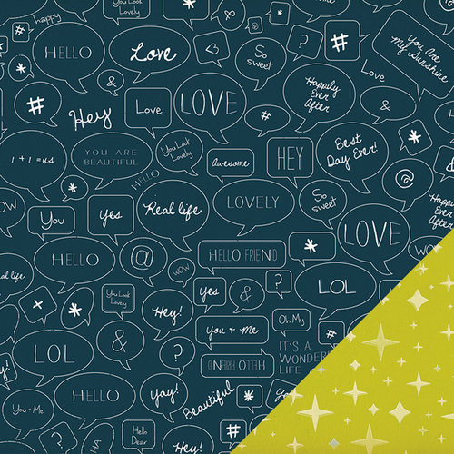 American Crafts - Studio Calico - Darling Dear Collection - 12 x 12 Double Sided Paper - Hayworth