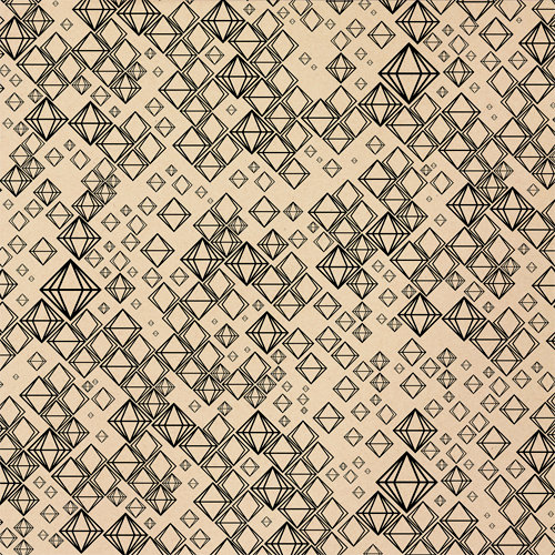 American Crafts - Studio Calico - Darling Dear Collection - 12 x 12 Kraft Paper - Van Dyke