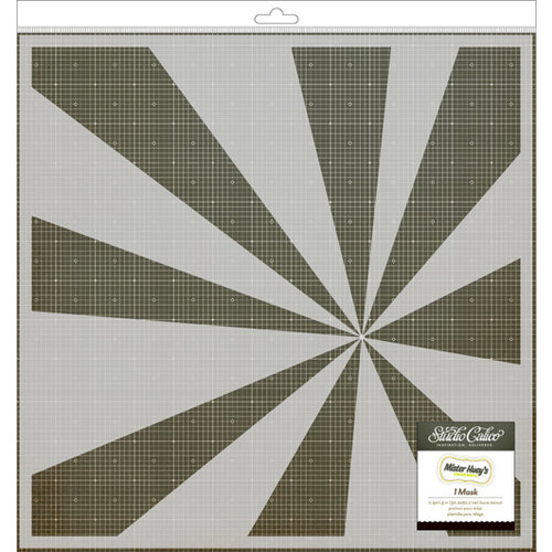 American Crafts - Studio Calico - Mister Huey's Color Mist - Stencils 12 x 12 Mask - Burst