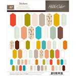 American Crafts - Studio Calico - Yearbook Collection - Cardstock Stickers - Elongated Hexagons
