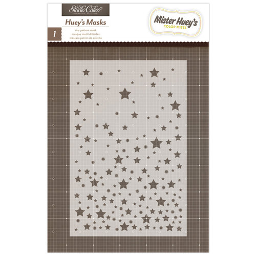 American Crafts - Studio Calico - Mister Huey's Color Mist - Stencils Mask - Star Pattern