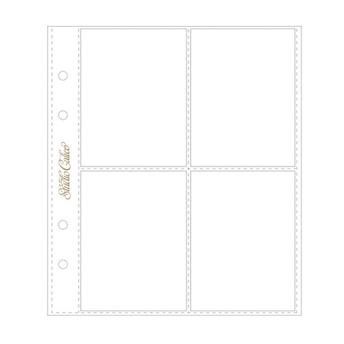 American Crafts - Studio Calico - 6 x 8 Photo Protectors for 4 x 3 Photos - Vertical - 6 Pack