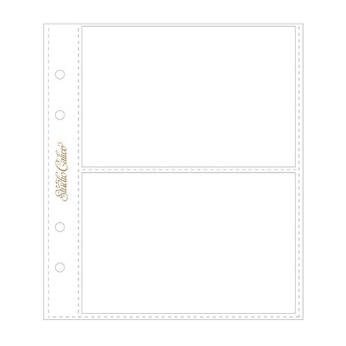 American Crafts - Studio Calico - 6 x 8 Photo Protectors for 4 x 6 Photos - Horizontal - 6 Pack