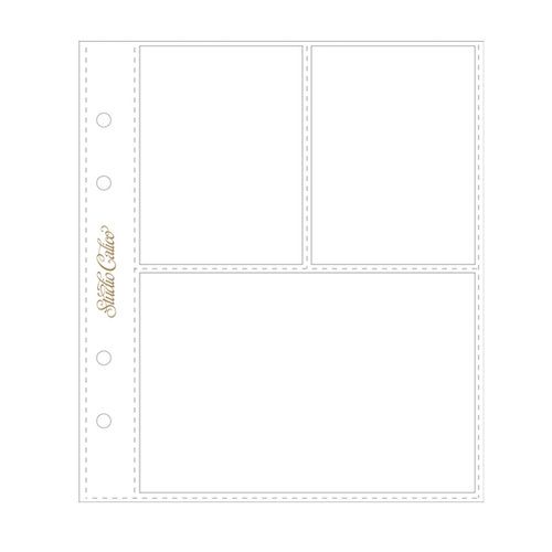 Studio Calico - 6 x 8 Photo Protectors for 2 Vertical 4 x 3 Photos and 1 Horizontal 4 x 6 Photo - 6 Pack