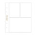 American Crafts - Studio Calico - 6 x 8 Photo Protectors for 2 Vertical 4 x 3 Photos and 1 Horizontal 4 x 6 Photo - 6 Pack