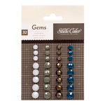 American Crafts - Studio Calico - Darling Dear Collection - Opaque Gems - Brown, Navy, Gray White