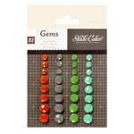 American Crafts - Studio Calico - Darling Dear Collection - Opaque Gems - Orange, Mint, Chartreuse, Gray