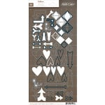 American Crafts - Studio Calico - Darling Dear Collection - Vellum Stickers - Shapes