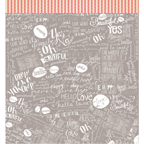American Crafts - Studio Calico - Sundrifter Collection - 12 x 12 Double Sided Paper - Love Wins