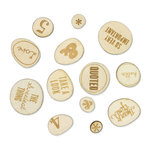 American Crafts - Studio Calico - Sundrifter Collection - Wood Veneer Pieces - Phrases