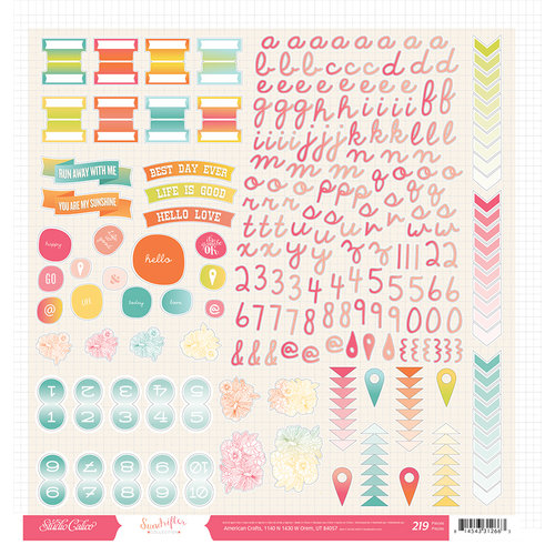 American Crafts - Studio Calico - Sundrifter Collection - 12 x 12 Cardstock Stickers