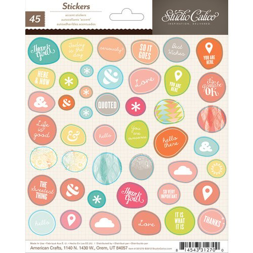 Studio Calico - Sundrifter Collection - Cardstock Stickers