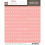 American Crafts - Studio Calico - Sundrifter Collection - Cardstock Stickers - Tiny Alphabet - Pink