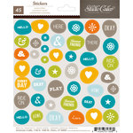 Studio Calico - Here and There Collection - Cardstock Stickers