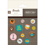 American Crafts - Studio Calico - Here and There Collection - Epoxy Brads