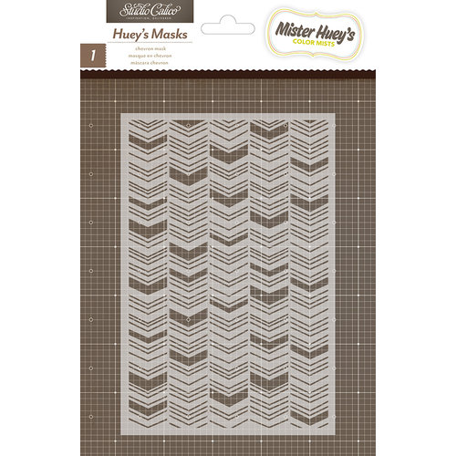 Studio Calico - Here and There Collection - Stencils Mask - Chevron