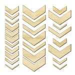 American Crafts - Studio Calico - Snippets Collection - Wood Veneer Pieces - Chevron