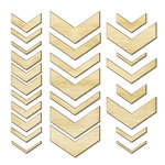 Studio Calico - Snippets Collection - Wood Veneer Pieces - Chevron