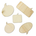 American Crafts - Studio Calico - Snippets Collection - Wood Veneer Pieces - Speech Bubbles