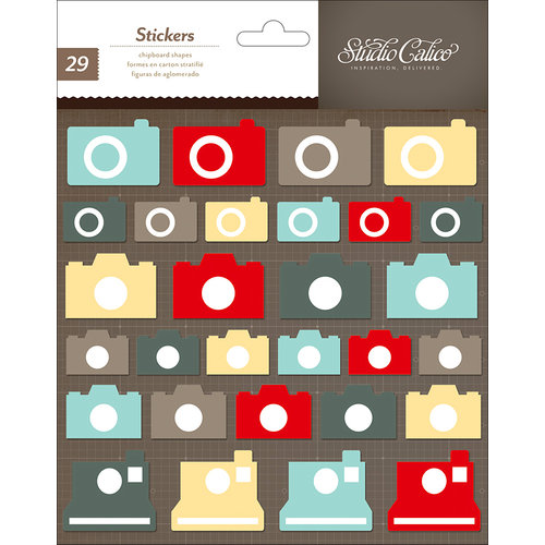 American Crafts - Studio Calico - Snippets Collection - Chipboard Stickers - Cameras