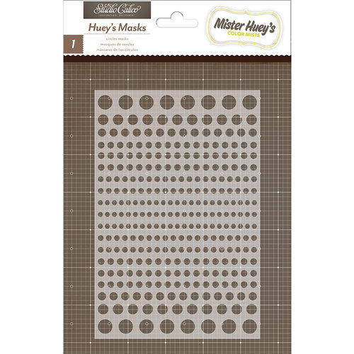 American Crafts - Studio Calico - Snippets Collection - Stencils Mask - Circles