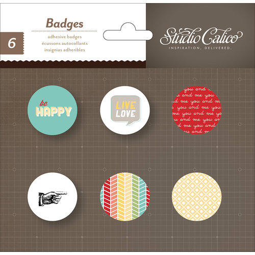 Studio Calico - Snippets Collection - Flair - Stickers