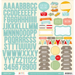 American Crafts - Studio Calico - Snippets Collection - 12 x 12 Cardstock Stickers