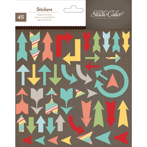 American Crafts - Studio Calico - Snippets Collection - Chipboard Stickers - Arrows