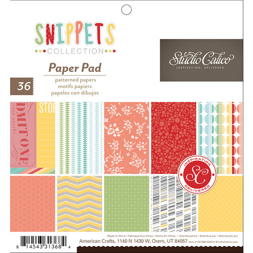 Studio Calico - Snippets Collection - 6 x 6 Paper Pad