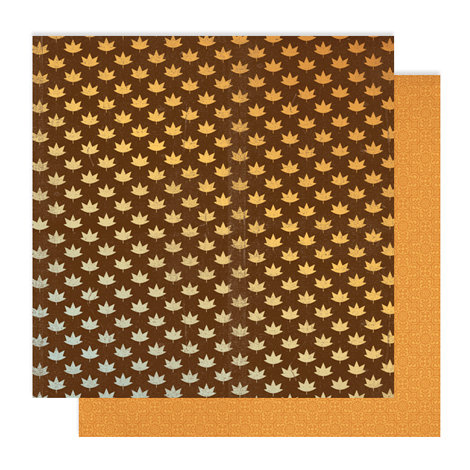 American Crafts - Studio Calico - Autumn Press Collection - 12 x 12 Double Sided Paper - Maple Syrup