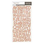 Studio Calico - Autumn Press Collection - Chipboard Stickers - Alphabet - Woodgrain
