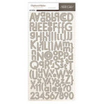 Studio Calico - Classic Calico Collection - Chipboard Stickers - Alphabet - Cream
