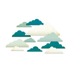Studio Calico - Memoir Collection - Chipboard Shapes - Clouds