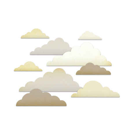 Studio Calico - Classic Calico Collection - Chipboard Shapes - Clouds