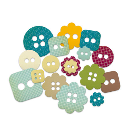 Studio Calico - Memoir Collection - Chipboard Shapes - Buttons