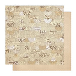 Studio Calico - Classic Calico Collection - 12 x 12 Double Sided Paper - Newsprint