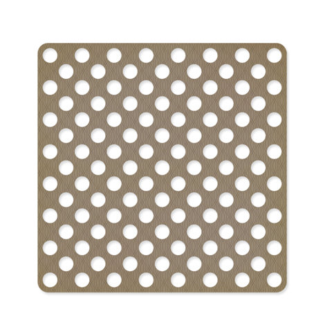 American Crafts - Studio Calico - Classic Calico Collection - 12 x 12 Die Cut Paper - Polka Dot - Brown