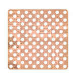American Crafts - Studio Calico - Autumn Press Collection - 12 x 12 Die Cut Paper - Polka Dot - Pink