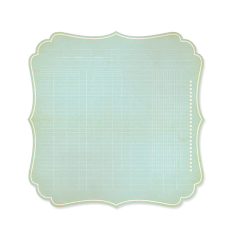 Studio Calico - Autumn Press Collection - 12 x 12 Die Cut Paper - Bracket - Light Blue