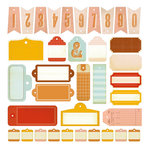 Studio Calico - Autumn Press Collection - Die Cut Cardstock Pieces - Tags