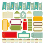 Studio Calico - Memoir Collection - Die Cut Cardstock Pieces - Tags
