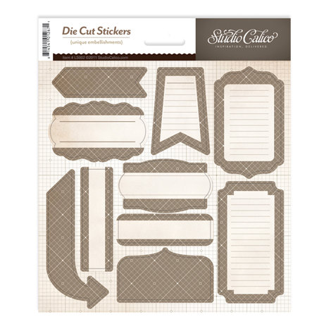 Studio Calico - Classic Calico Collection - Cardstock Stickers - Labels - Gray