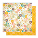 Studio Calico - Memoir Collection - 12 x 12 Double Sided Paper - Flower Bed