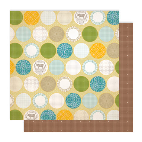 Studio Calico - Memoir Collection - 12 x 12 Double Sided Paper - Linen