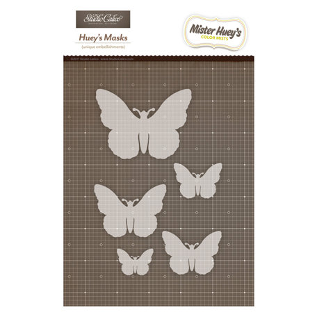 Studio Calico - Mister Huey's Color Mist - Stencils Mask Set - Butterflies