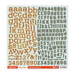 Studio Calico - Home Front Collection - 12 x 12 Cardstock Stickers - Alphabet, CLEARANCE