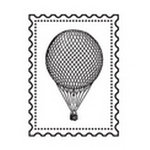 Studio Calico - Clear Acrylic Stamps - Hot Air Balloon, CLEARANCE