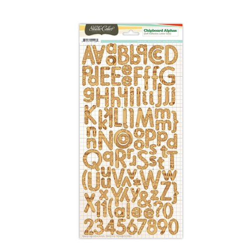 Studio Calico - Countryside Collection - Chipboard Stickers - Alphabet