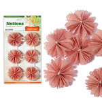 Studio Calico - State Fair Collection - Notions - Patterned Flowers - Pink