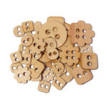 Studio Calico - State Fair Collection - Wood Veneer Pieces - Buttons